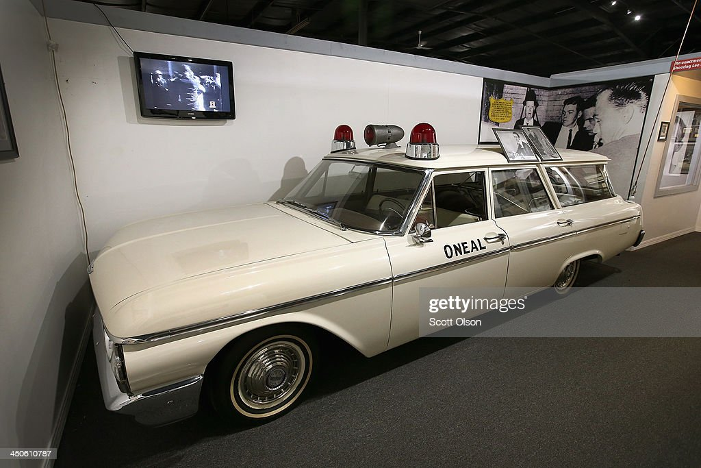 The ambulance that carried accused Kennedy assassin Lee Harvey Oswald away after he was shot by Jack Ruby is displayed at the Historic Auto Attractions museum on November 19, 2013 in Roscoe, Illinois. The museum has a large collection of items from Kennedy's life and death on display. It has been fifty years since John F. Kennedy was assassinated on November 22, 1963.