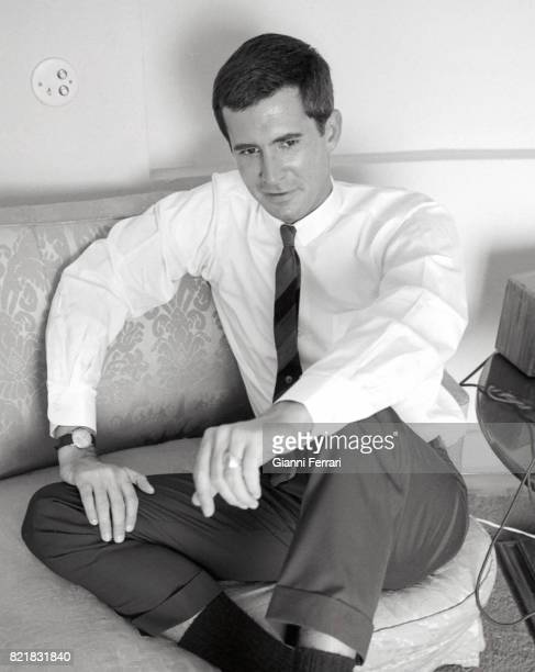 The American actor Anthony Perkins Madrid Spain