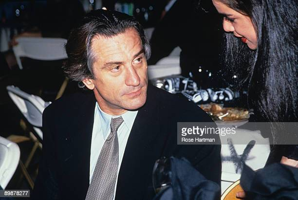 The American actor Robert De Niro attends a dinner hosted by the designer Giorgio Armani New York 1990s