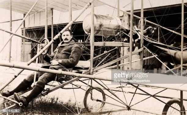 The American aircraft pioneer and manufacturer Charles H Patterson in San Francisco California circa 1912