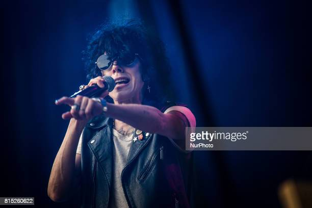 The american alternative rock singer and songwriter LP pictured on stage as she performs at MoonampStars Festival 2017 in Locarno Switzerland