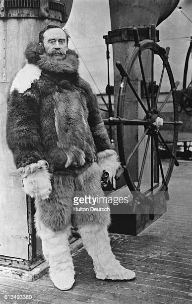 The American Arctic explorer Robert Peary aboard the Roosevelt in 1909 the year that he reached the North Pole He also discovered Peary Land which...
