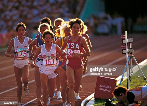 The American athlete Mary Decker the British athlete Wendy Sly the South Africanborn British Zola Budd and the Romanian athlete Maricica Puica...