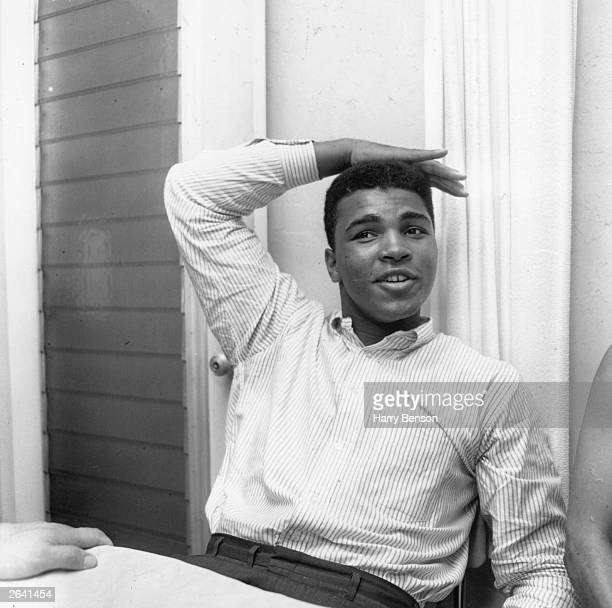 The American boxer Cassius Clay two weeks after he won his first world heavyweight title Original Publication People Disc HW0518