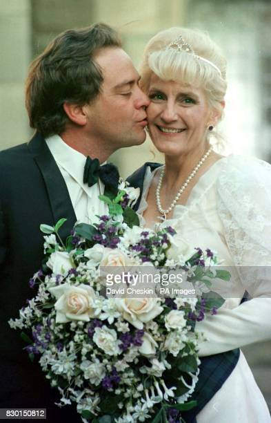 The American couple who were married in the village they fell in love with on the Internet Harry Dunning and his fiance Marjorie Lough from Las Vegas...