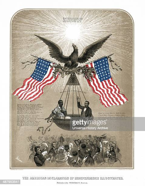 The American Declaration of Independence illustrated by Dominique Fabronius artist c1861 An idealistic call for emancipation of the slaves Borne...
