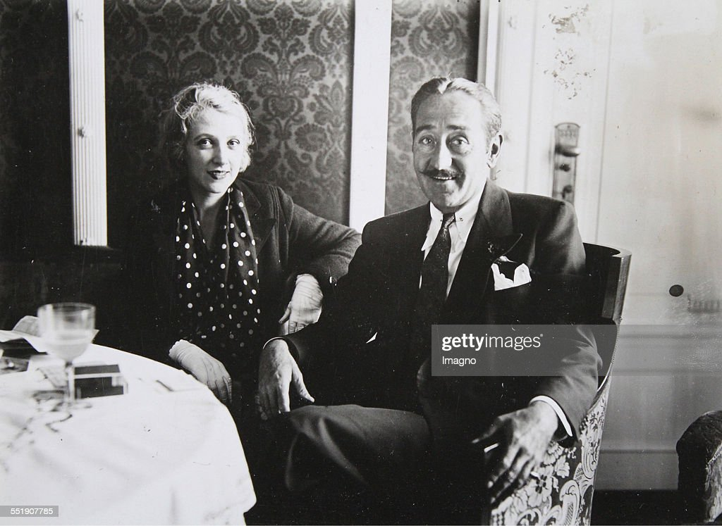 The American film actor Adolphe Menjou and his wife Cathlin in Berlin / Hotel Adlon Photograph 15th September 1932