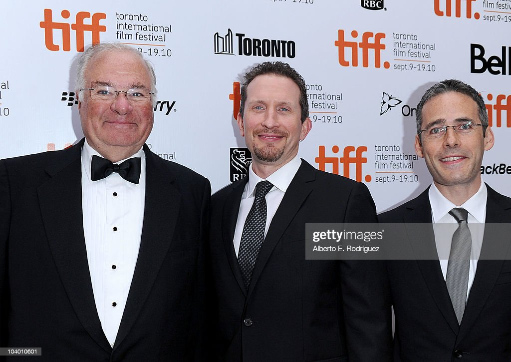The American Film Company founder and CEO Joe Ricketts, Brian Peter Falk and Alfred Levitt arrive at the 'The Conspirator' Premiere held at Roy Thomson Hall during the 35th Toronto International Film Festival on September 11, 2010 in Toronto, Canada.