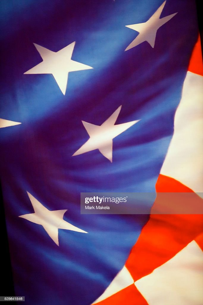 The American flag motif was prominent on the stage for Vice President Joe Biden and Paul Ryan during the Vice Presidential Debate at Centre College...