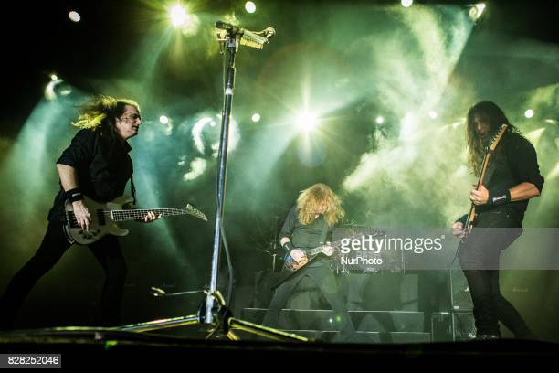 The american heavy metal band Megadeth performing live at Carroponte Sesto San Giovanni Italy on 8 August 2017