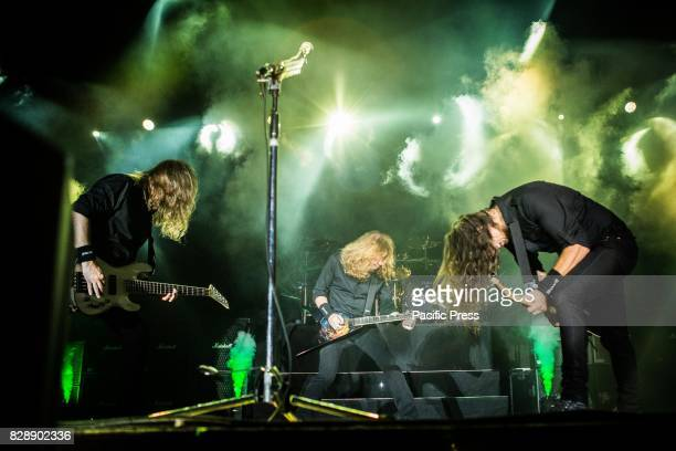 The american heavy metal band Megadeth pictured on stage as the perform live at Carroponte Milan Italy