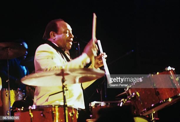 The American musician Lionel Hampton during a concert Madrid Spain