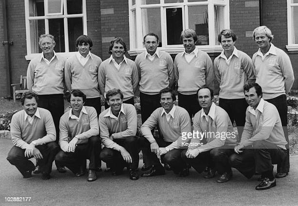The American Ryder Cup team 15th September 1977 From left to right Don January Dave Hill Lanny Wadkins Dow Finsterwald Jerry McGee Tom Watson Jack...