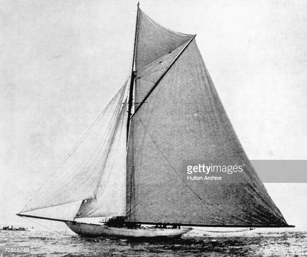 The American sloop Defender wins the America's Cup sailing race September 1895