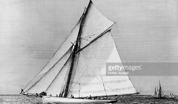 The American sloop Volunteer winner of the seventh America's Cup sailing race 1887