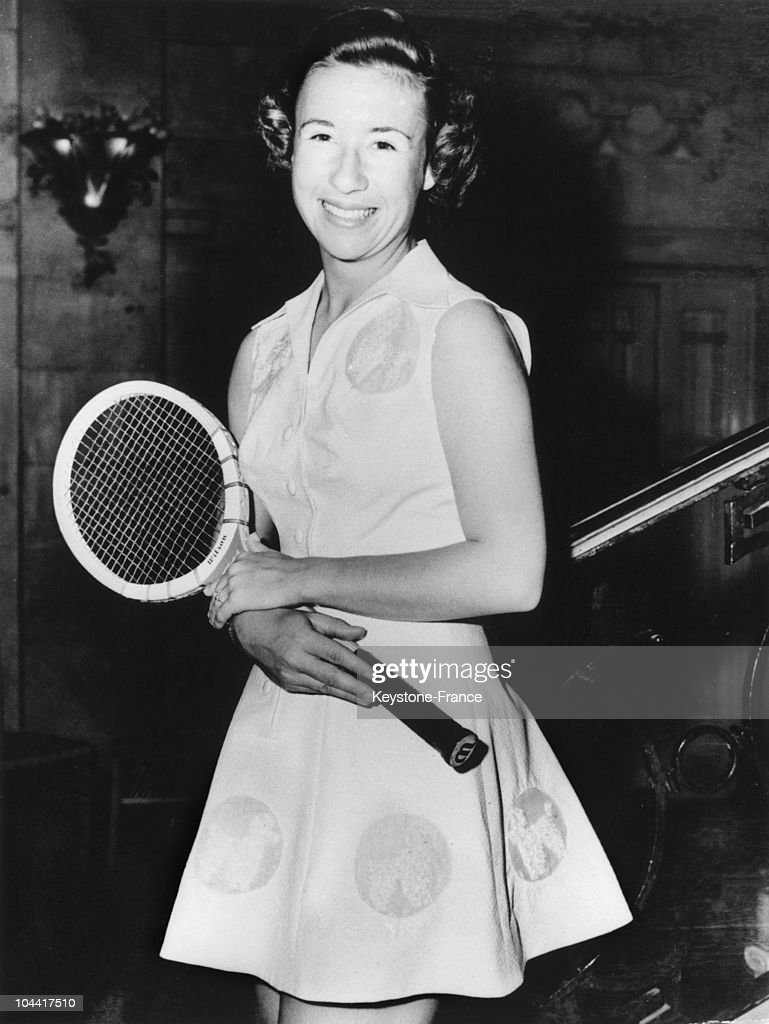 The American Tennis Player Maureen Connolly Wimbledon England