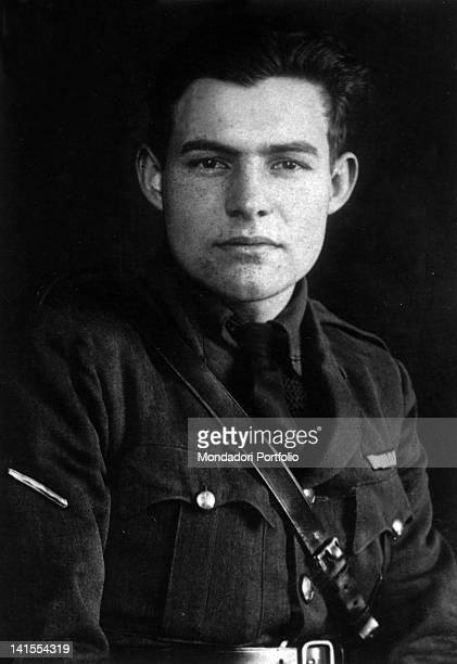 The American writer and journalist Ernest Hemingway in uniform 1918