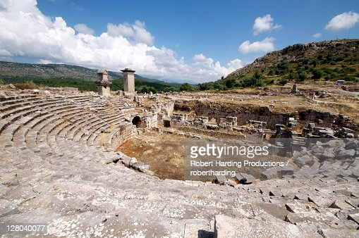 The Amphitheatre At The Lycian Site Of Xanthos Unesco World Heritage Site Ant...
