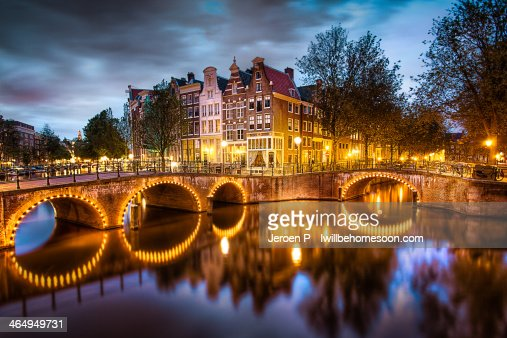 The Amsterdam Canals by Night