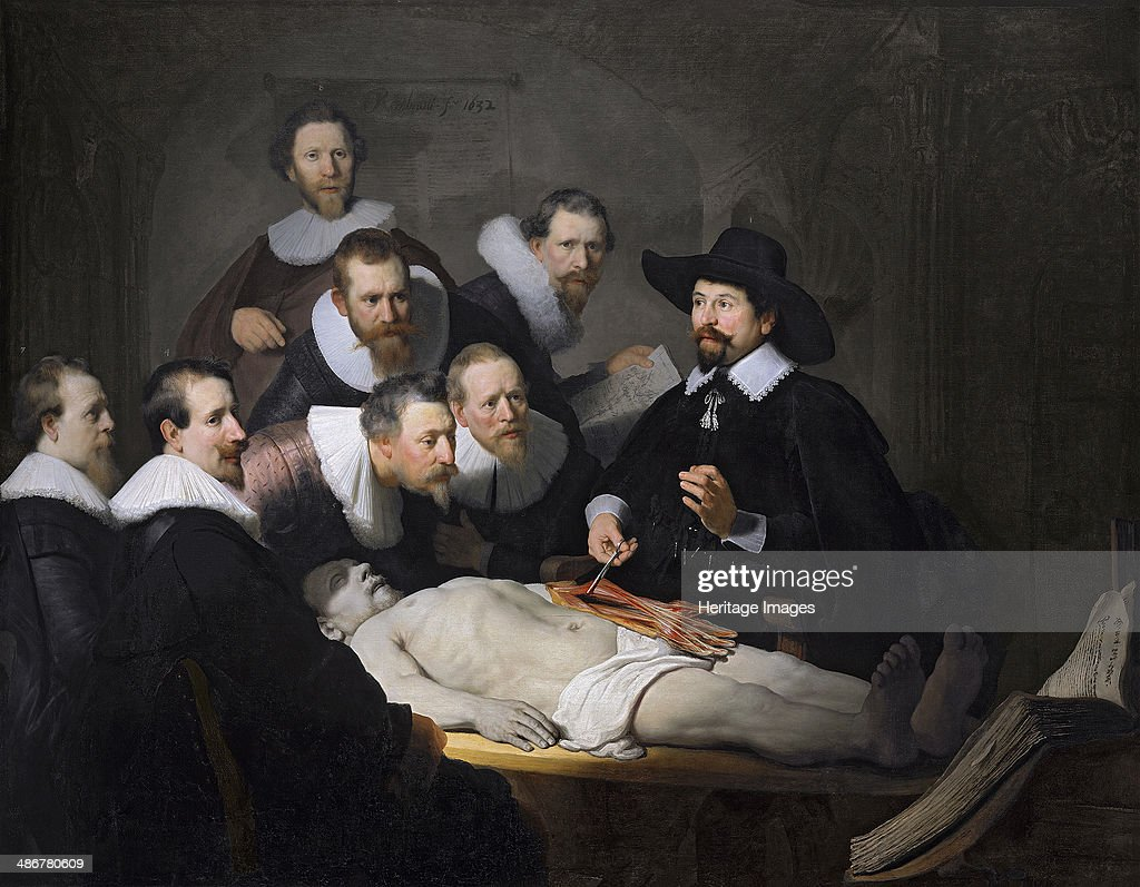 The Anatomy Lesson of Dr Nicolaes Tulp 1632 Artist Rembrandt van Rhijn