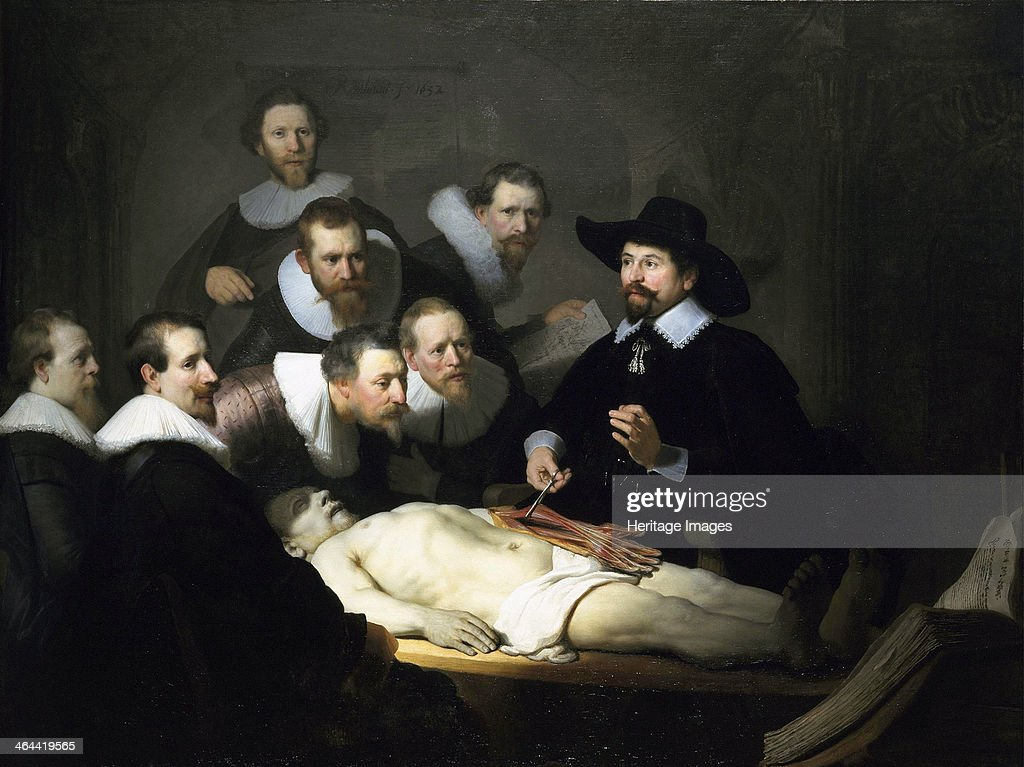 'The Anatomy Lesson of Dr Nicolaes Tulp' 1632 Rembrandt van Rhijn Found in the collection of the The Mauritshuis The Hague