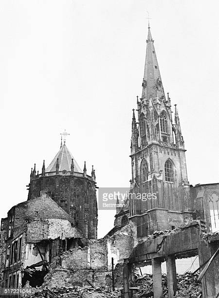 The ancient city of Aachen from which Charlemagne ruled the holy roman empire in the 6th century is now a mass of ruins This historic town the first...