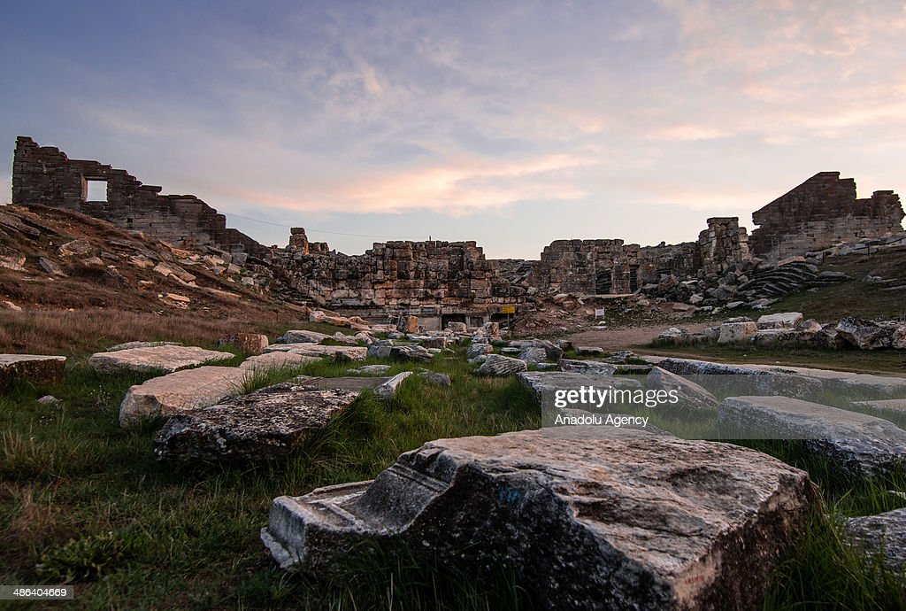The ancient city of Aizanoi located in Cavdarhisar district of Kutahya, Turkey is seen on April 23, 2014. The city has a temple built for Zeus which is the best-preserved temple in all of Anatolia, and also has a large theatre, a stadium adjacent to theatre, two Turkish-style baths, a gymnasium, five bridges on Kocacay which are still used today, an old dam, a trading building, and avenues with columns on both sides, necropolis areas and the sacred cave of Metre Steune.