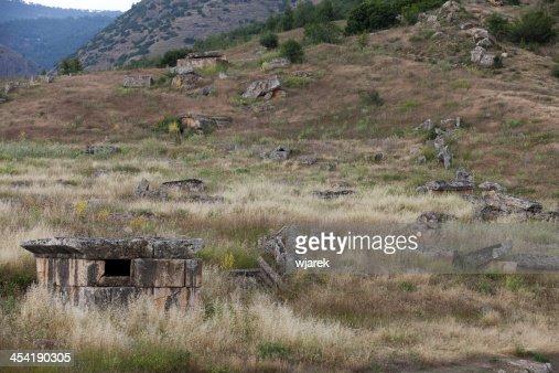 A cidade antiga de Hierapolis : Foto de stock