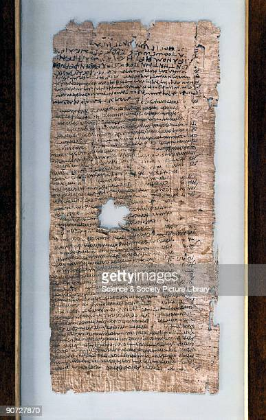 The Ancient Egyptians used the pithy stem of a water plant for writing and drawing on until the introduction of paper in the 8th century Papyrus was...