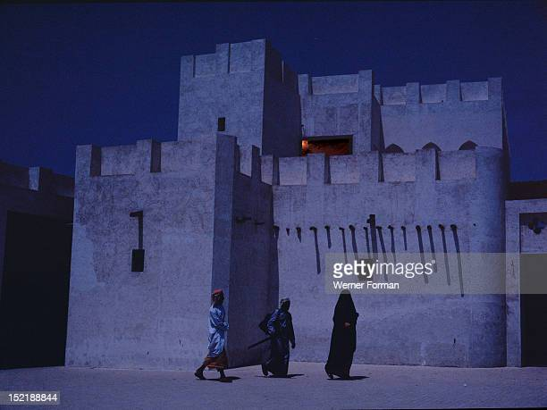 The ancient median of alShwaiheen Sharjah photographed by the light of a full moon United Arab Emirates Photographed 1996