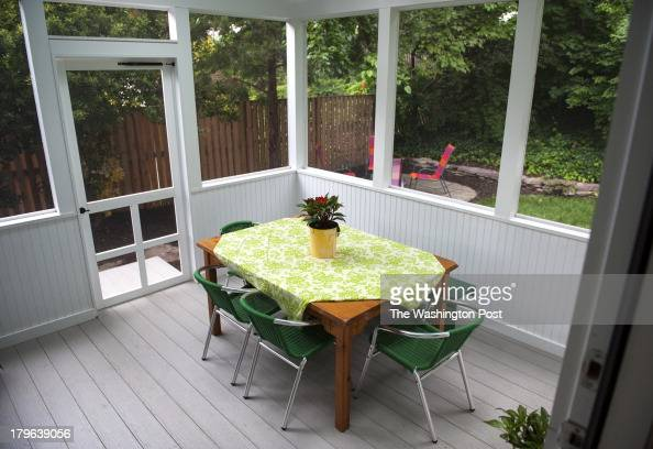 The Andelman's screened in back porch is photographed Wednesday June 19 2013 in Arlington VA Jason Andelman a chocolatier who owns Artisan...