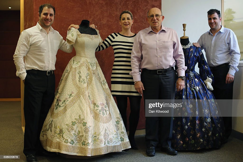 The Angel family (L-R) Jeremy, Emma, Tim and Daniel pose for a photograph at Angels Costume House on January 20, 2016 in London, England. Angels Costumes established in 1840 is in its 175th year, and is the longest-established and largest professional costume house in the world. The costumier is to receive the 'Outstanding British Contribution to Cinema Award' at the EE British Academy Film Awards ceremony at Londons Royal Opera House on Feb 14, 2016.