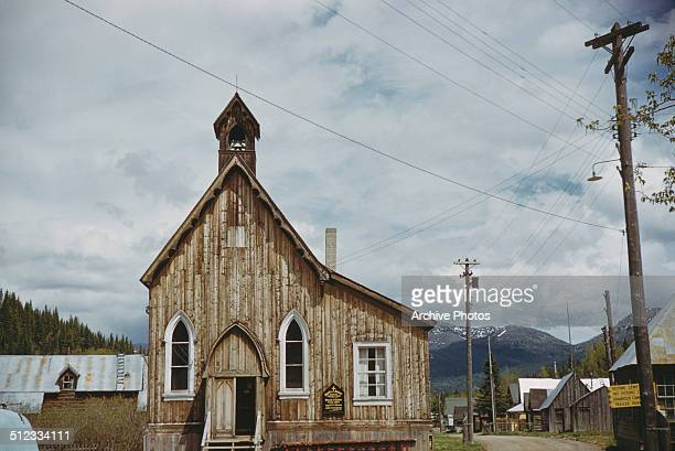 The Anglican Church of Our Saviour in Barkerville British Columbia Canada in the Diocese of Cariboo 1959 It was built in 1869