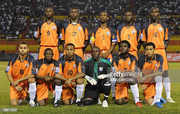 The Anguilla national team poses for a picture before their South Africa 2010 World Cup elimination soccer match against the El Salvadoran national...
