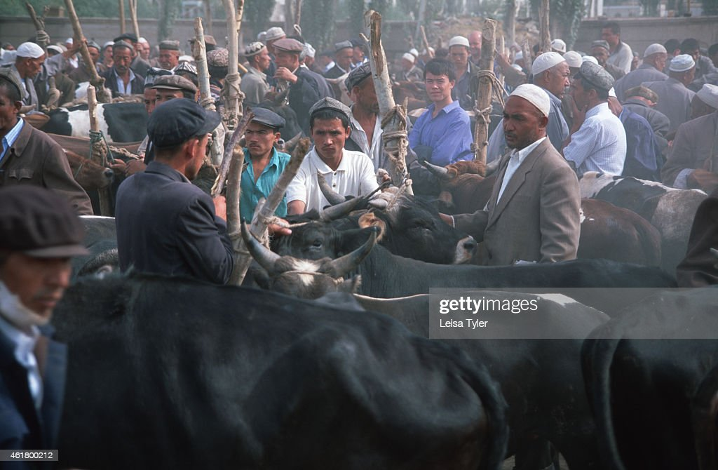 The animal market at Kashgar's Sunday Bazaar The Kashgar Sunday bazaar is the biggest in Central Asia attracting more than 50000 people from across...