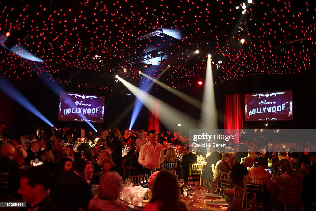 The annual Collars and Coats gala ball in aid of Battersea Dogs & Cats home at Battersea Evolution on November 7, 2013 in London, England.