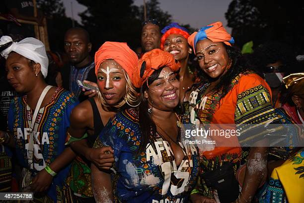 The annual J'ouvert celebration made its way along Flatbush Avenue from Grand Army Plaza