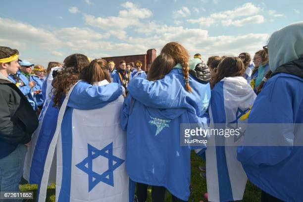 The annual March of the Living inside the former German Nazi Death Camp AuschwitzBirkenau Jewish people from Israel and around the world marched the...