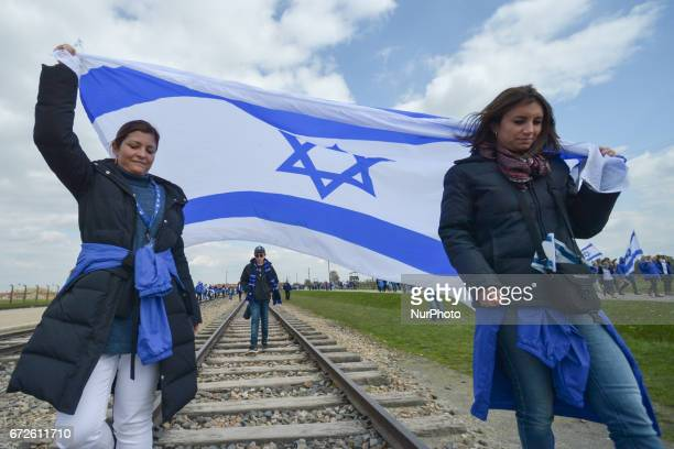 The annual March of the Living Jewish people from Israel and around the world marched the 3km route from Auschwitz to Birkenau between two formers...