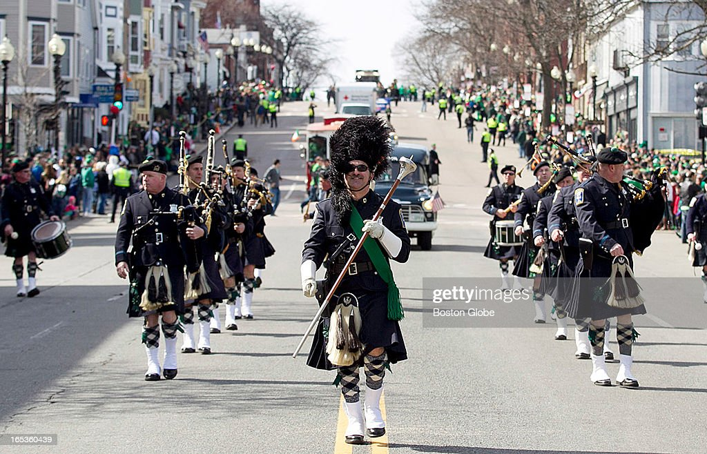 The Annual St. Patrick's Day Parade makes its way through South Boston, Mass. on Sunday, March 17, 2013. The parade was followed by the Veterans for Peace parade.