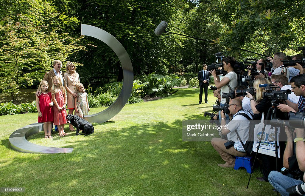 The annual Summer photocall at Horsten Estate with King Willem-Alexander of the Netherlands and family on July 19, 2013 in Wassenaar, Netherlands.