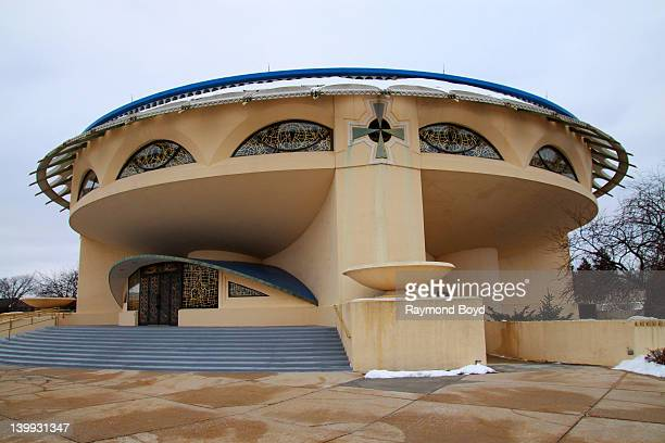 The Annunciation Greek Orthodox Church designed by famed architect Frank Lloyd Wright in Wauwatosa Wisconsin on FEBRUARY 14 2012