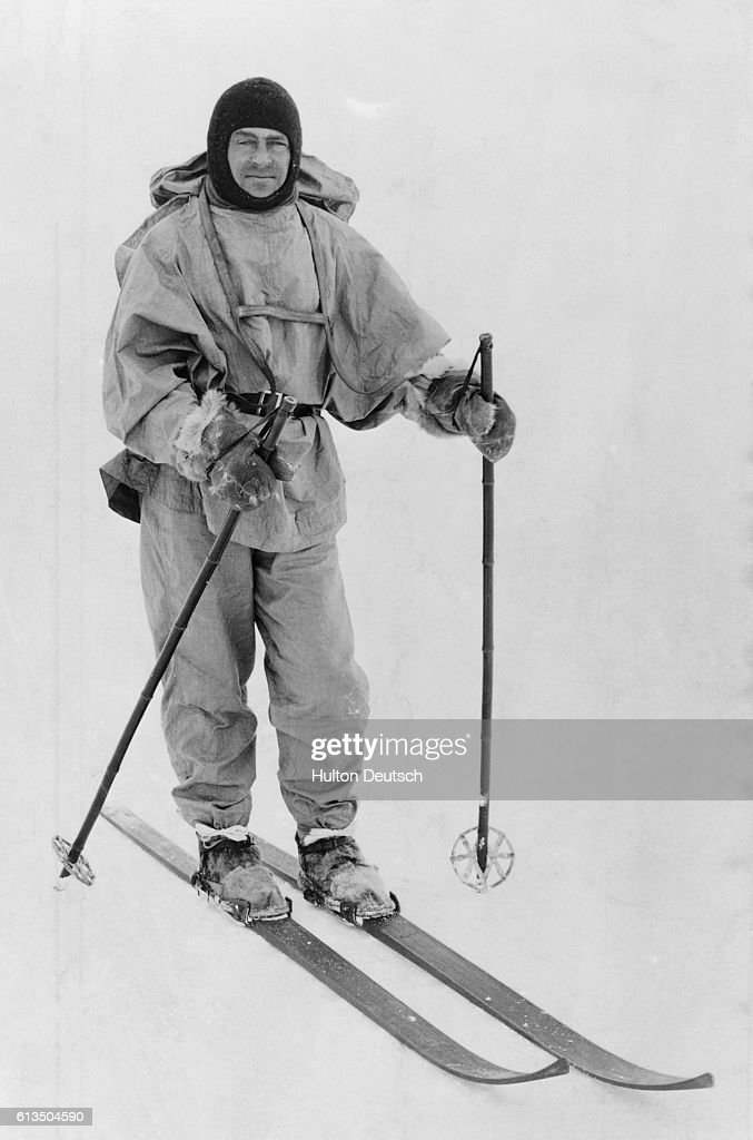 The Antarctic explorer Robert Falcon Scott (1868-1912). He reached the South Pole in January 1912, only to be beaten by a month by Roald Amundsen's Norwegian party. Scott died on the return journey with the rest of his team.