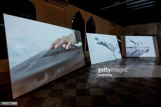 'The Antarctic Pavilion' at Palazzo Molina a San Basegio commissioned by Alexander Ponomarev and sponsored by Kaspersky Lab as part of the Antarctic...
