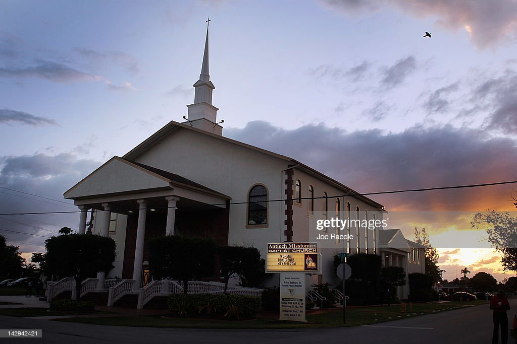 The Antioch Missionary Baptist Church where Sybrina Fulton the mother of Trayvon Martin who was killed by George Zimmerman attended a service for the...