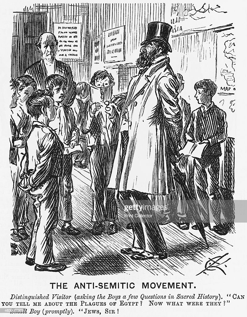 'The AntiSemitic Movement' 1881 Punch illustrates how antiSemitism was rife in both teaching and culture in 1881 From Punch or the London Charivari...