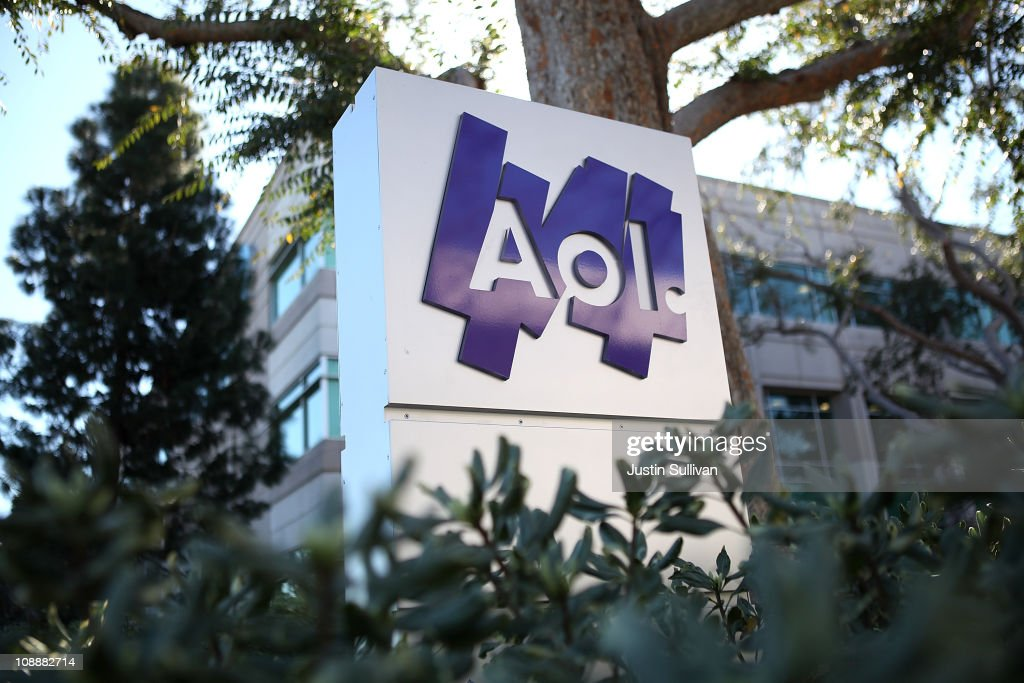 The AOL logo is posted on a sign in front of the AOL Inc. offices on February 7, 2011 in Palo Alto, California. Online company AOL Inc. announced today that it is purchasing online news website Huffington Post for $315 million.
