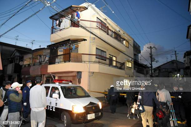 The apartment building where Mayumi Saito lives is seen on November 20 2017 in Neyagawa Osaka Japan She was arrested after she confessed to dumping...