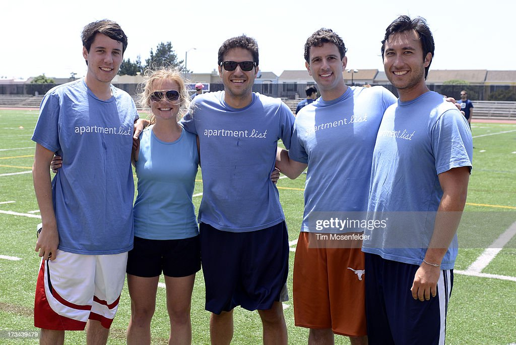 The Apartment List team pose at the Founder Institute's Silicon Valley Sports League on July 13, 2013 in San Francisco, California.