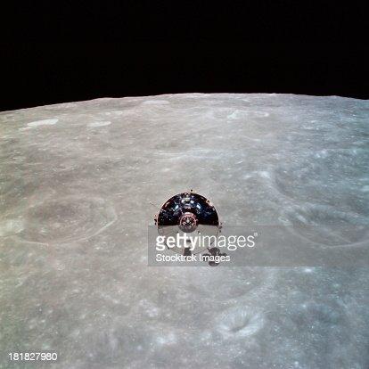 The Apollo 10 Command and Service Modules in lunar orbit.
